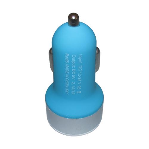 Carregador Veicular 2 Entradas USB - Azul Claro