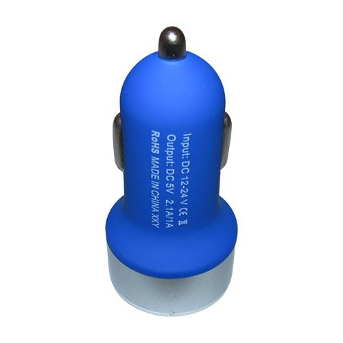 Carregador Veicular 2 Entradas USB - Azul Escuro