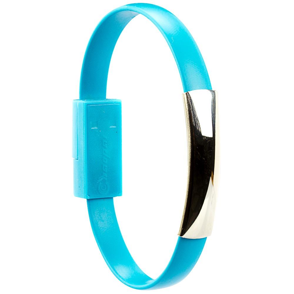 Pulseira Bracelete Cabo de Dados Lightning - Azul