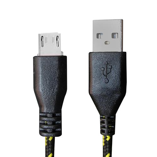 Cabo de Dados Estilo Corda Micro USB 2 Metros - Preto