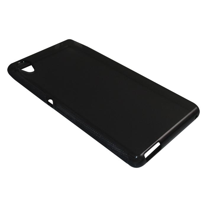 Capa TPU Grafite Sony Xperia M4 Aqua Dual 7068 + Película Flexível
