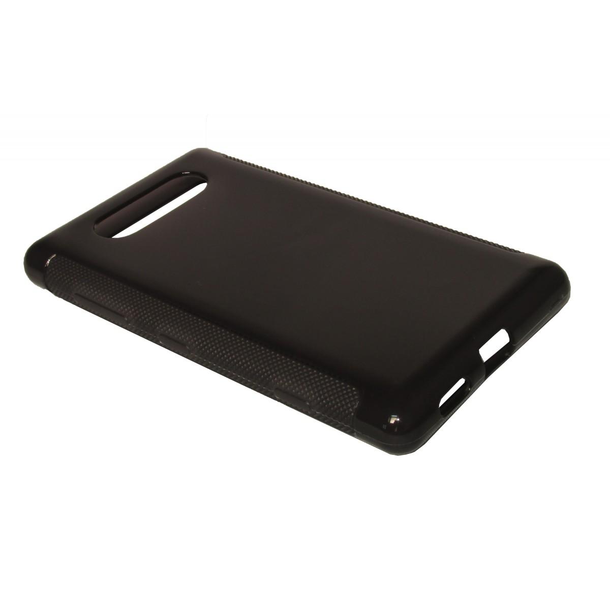 Capa TPU Grafite Nokia Lumia 820 N820 + Película Flexível