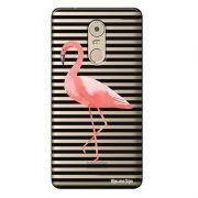 Capa Transparente Exclusiva para Lenovo Vibe k6 Plus Flamingo - TP317