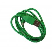 Cabo de Dados Estilo Corda Micro USB - Verde