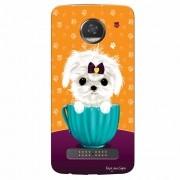 Capa Personalizada para Motorola Moto Z2 Play XT1710 Cachorro no Pote - DE03