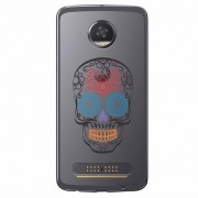 Capa Transparente Exclusiva para Motorola Moto Z2 Play Caveira Mexicana - TP241