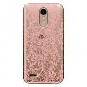 Capa Transparente Personalizada para LG K10 Pro M400 Renda Rosa - TP284