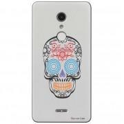 Capa Transparente Exclusiva para Alcatel A3 XL Caveira Mexicana - TP241
