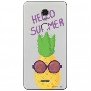 Capa Transparente Exclusiva para Alcatel A3 XL Hello Summer - TP322