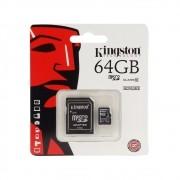 Cartão de Memória Kingston 64GB com Adaptador SD