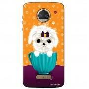 Capa Personalizada para Motorola Moto Z2 Force Cachorro no Pote - DE03