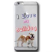 Capa Transparente Personalizada Exclusiva Apple Iphone 6/6s Bulldog - TP74