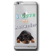 Capa Transparente Personalizada Exclusiva Apple Iphone 6/6s Rottweiler - TP84
