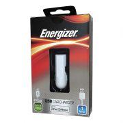 Carregador Veicular com Saída USB 1A e Cabo USB Energizer para Iphone 5 5S 5C 6 6S Ipad - Branco