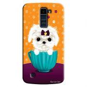 Capa Personalizada para LG K10 TV K430DSF Cachorro no Pote - DE03