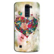 Capa Personalizada Exclusiva LG K10 TV K430DSF Love Coração Abstrato - LV19