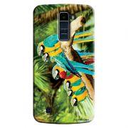 Capa Personalizada Exclusiva LG K10 TV K430DSF Pets Arara Azul - PE44