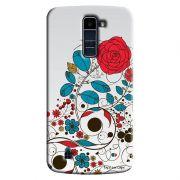 Capa Personalizada para LG K10 TV K430DSF Textura Flores - TX04