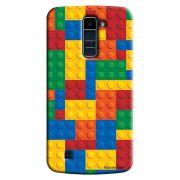 Capa Personalizada para LG K10 TV K430DSF Textura Lego - TX08
