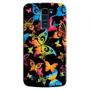Capa Personalizada Exclusiva LG K10 TV K430DSF Textura Borboletas - TX10