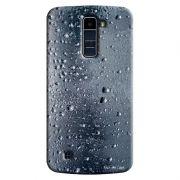 Capa Personalizada Exclusiva LG K10 TV K430DSF Textura Gotas'd Água - TX25