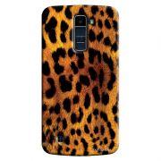 Capa Personalizada Exclusiva LG K10 TV K430DSF Textura Pele de Oncinha - TX46