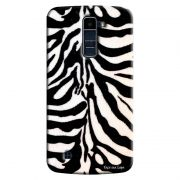 Capa Personalizada para LG K10 TV K430DSF Textura Pele de Zebra - TX48