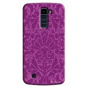 Capa Personalizada para LG K10 TV K430DSF Textura Flores - TX61