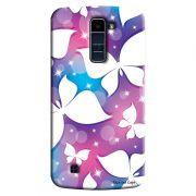 Capa Personalizada Exclusiva LG K10 TV K430DSF Textura Borboletas - TX63