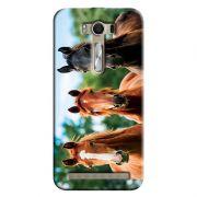 Capa Personalizada para Asus Zenfone 2 Laser ZE550KL Pets Cavalos - PE32