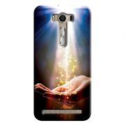 Capa Personalizada Exclusiva Asus Zenfone 2 Laser ZE550KL Religiosas Mão Sagrada - RE09