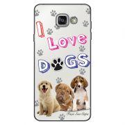 Capa Transparente Personalizada Exclusiva Samsung Galaxy A5 2016 SM-A510 Eu Amo Meus Cachorros - TP69
