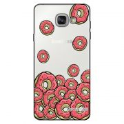 Capa Transparente Personalizada Exclusiva Samsung Galaxy A3 2016 SM-A310 Donuts - TP108