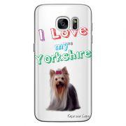 Capa Personalizada para Samsung Galaxy S7 G930 Eu Amo Meu Yorkshire - TP87