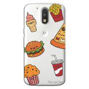 Capa Transparente Personalizada Exclusiva Motorola Moto G4 Plus Comida - TP106