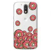 Capa Transparente Personalizada Exclusiva Motorola Moto G4 Plus Donuts - TP108