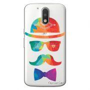 Capa Personalizada para Motorola Moto G4 Play Mustache - TP13