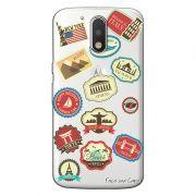 Capa Personalizada para Motorola Moto G4 Play Carimbos Passaporte - TP14