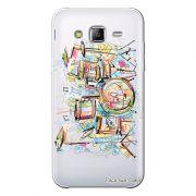 Capa Transparente Personalizada Exclusiva Samsung Galaxy J3 2016 Bateria - TP05