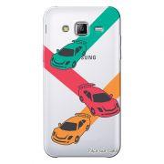 Capa Transparente Personalizada Exclusiva Samsung Galaxy J3 2016 Carros - TP16