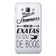 Capa Transparente Personalizada Exclusiva Samsung Galaxy J3 2016 Frases de Boas - TP122
