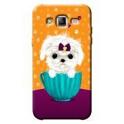 Capa Personalizada para Samsung Galaxy J3 2016 Cachorro no Pote - DE03