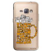 Capa Transparente Personalizada Exclusiva Samsung Galaxy J1 2016 Cerveja - TP06