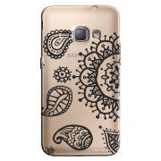 Capa Transparente Personalizada Exclusiva Samsung Galaxy J1 2016 Flores - TP34