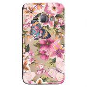 Capa Transparente Personalizada Exclusiva Samsung Galaxy J1 2016 Flores - TP38