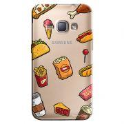 Capa Transparente Personalizada Exclusiva Samsung Galaxy J1 2016 Comida - TP105