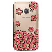 Capa Transparente Personalizada Exclusiva Samsung Galaxy J1 2016 Donuts - TP108
