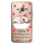 Capa Transparente Personalizada Exclusiva Samsung Galaxy J1 2016 Frases - TP113