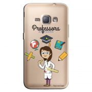 Capa Transparente Personalizada Exclusiva Samsung Galaxy J1 2016 Professora - TP217