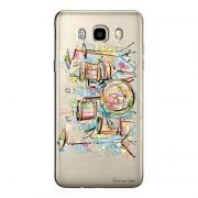 Capa Transparente Personalizada Exclusiva Samsung Galaxy J5 2016 Bateria - TP05